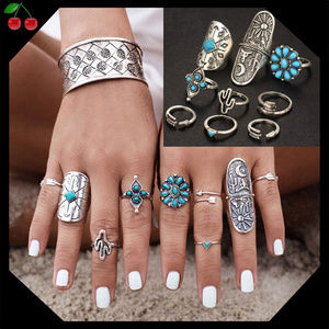 Jewelry - 🍒Boho knuckle ring set💍9Piece! ONLY$13🤩